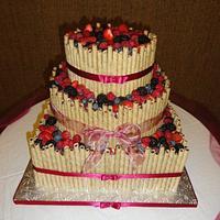 Fruitful Wedding Cake