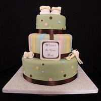 """""""Wishes do come true"""" Baby shower cake"""