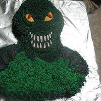 dinosaur cake by cher45