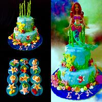 Ariel cake and cookies