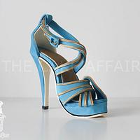 Blue and gold Stiletto
