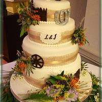 Country and western wedding cake