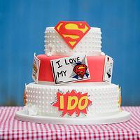 Man of Steel Wedding Cake by cakesbymiriam