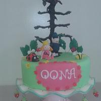 Ben and Holly theme cake