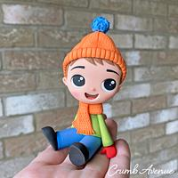 Cute Boy Cake Topper