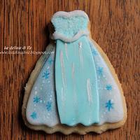 Elsa dress cookies by le delizie di ve