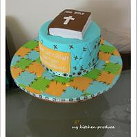 Quilt pattern cake