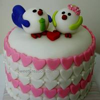 Valentines Mini Cakes by SweetCreationsbyFlor