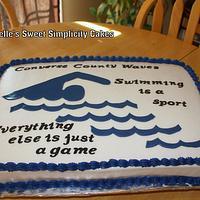 Swimming Theme Cake