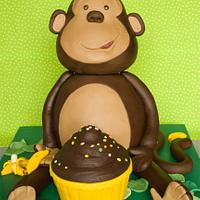 Monkey cake by Anjana Cawdell