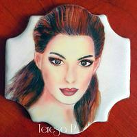 Portret ręcznie malowany