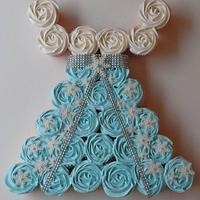 Frozen Princess Cupcake Dress