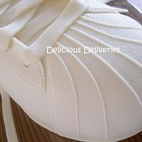 Shell Toe Adidas Sneaker Cake by DeliciousDeliveries