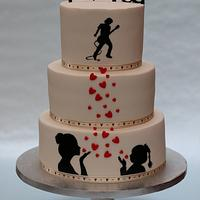 Birthday cake on request of wife and daughter :