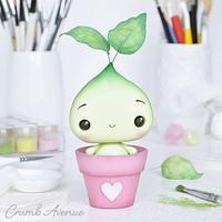 Cute Plant Cake Topper