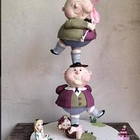 Dee-Dum Cake: Alice in Wonderland