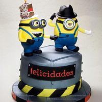 Michael Jackson and Minions Cake