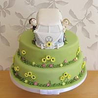 VW campervan wedding cake