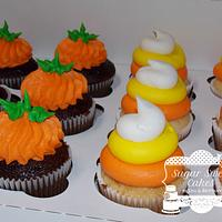 Pumpkin & Candy Corn Cupcakes