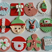 Cheerful Christmas Cupcake Toppers