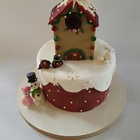 Winter snow cake