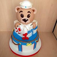 Teddy First Birthday Cake
