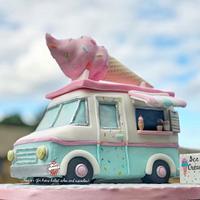 Ice Cream Van Cake