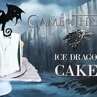 GAME OF THRONES ICE DRAGON CAKE!