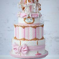 Shabby chic carousel cake