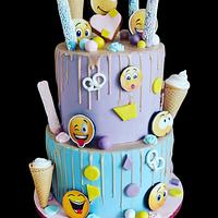 Emoticons🙄😉😲🤫🤐My new Cake  - Cake by Desislava Tonkova