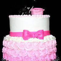Pink Hombre Birthday Cake