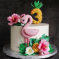 Flamingo cake by Ako cukor sladká