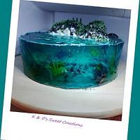 Jelly island cake