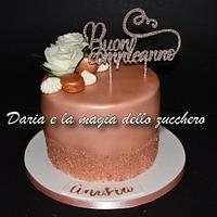 Rose gold cake