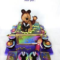 Masha and the bear cake: Hocus-pocus