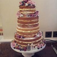 My first naked cake