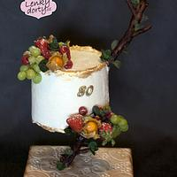 """Gravity fruit cake """"on a branch"""" by Lenkydorty"""