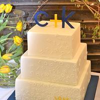 My first wedding cake by Carol