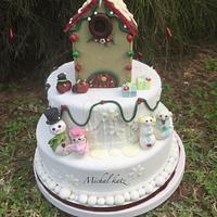 winter cristhmas birthday cake