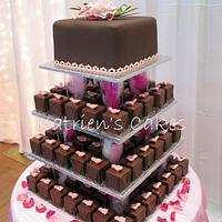 Square Chocolate Mini Cakes