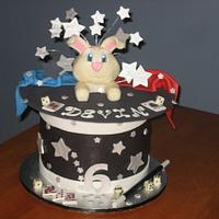 Magic Rabbit Hat Birthday Party Cake by Kristen