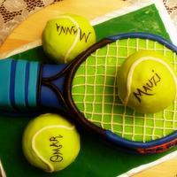 badminton racquet cake!