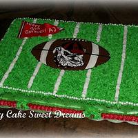 Georgia Bulldog Football field cake