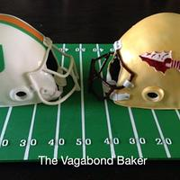 Opposing Football fans cake - FSU vs UM