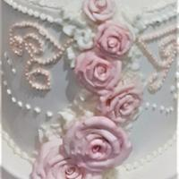 rose cake by Gisela Gañan