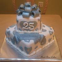 25th wedding anniversary cake