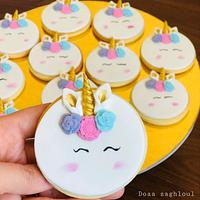 Unicorn cookies by Doaa zaghloul