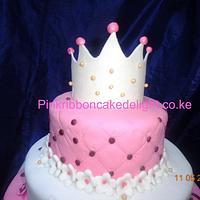princess /tiara cake by Pinkribbon cakedelight (Marystella)