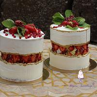 strawberry faultline cake