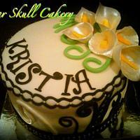 Last Minute Calla Lilly Cake....
